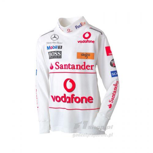 T Shirt Dziecięcy Longsleeve Vodafone Mclaren Mercedes F1 Team